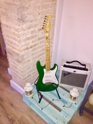 Fender Stratocaster 1989 Eric Clapton 7up green (rare)