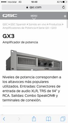 amplificador GX3