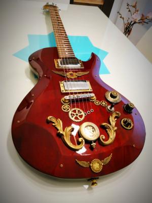 Guitarra customizada Steampunk