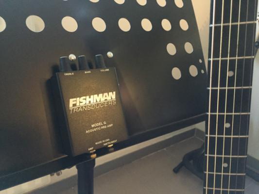 Previo Fishman externo Made in Usa Model G Acoustic Pre-Amp