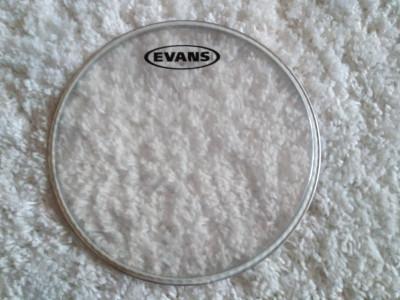 "Parche de timbal de 10"" Evans usado"