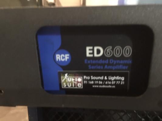 Etapa de potencia RCF ED600