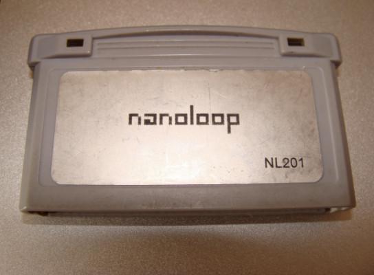 Nanoloop sintetizador chiptune 8 bits cartucho Gameboy advance