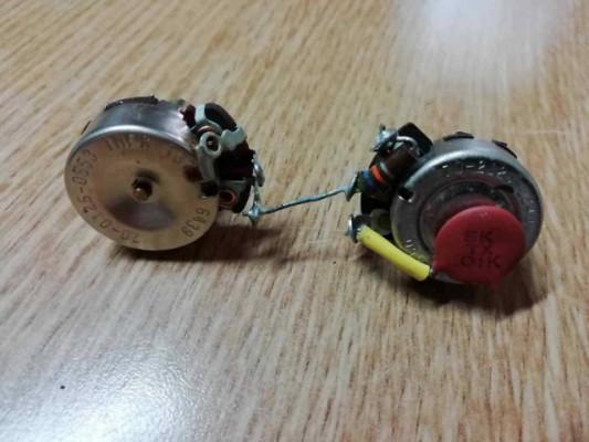 Fender pre CBS 1964 Potenciometros + capacitor + resistencia
