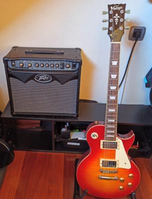 Pack guitarra SQUIER TELECASTER / VINTAGE LP + ampli PEAVY15