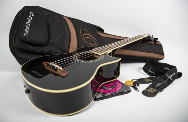 D-Walker Black BK bass acustic bajo acústico de viaje pro 4 cuerdas warwick