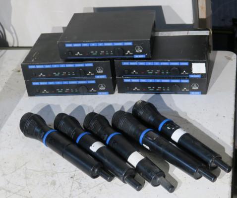 Vendo microfonos inalambricos AKG WMS300
