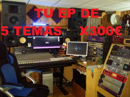 Tu EP de 5 temas x300€ (Grabación, mezcla y master)