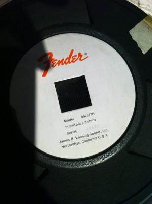Altavoz vintage de guitarra Fender/JBL E120. Clásico de los 70s y NUEVO.