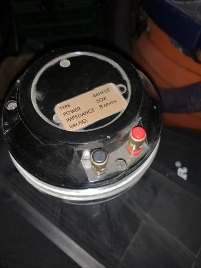 Motor de agudos de RCF.