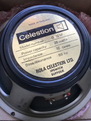 CELESTION G12M-25 ,1977(Made in England)