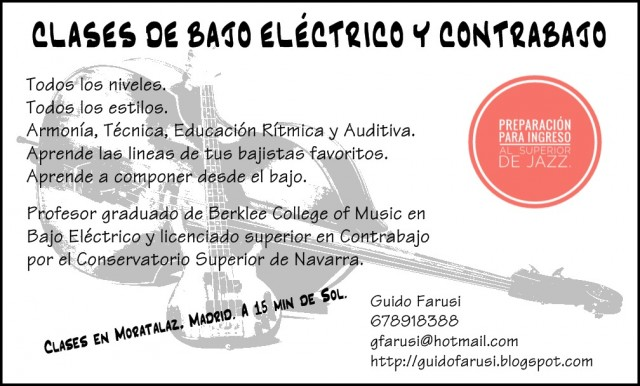 CLASES DE BAJO Y CONTRABAJO EN MADRID