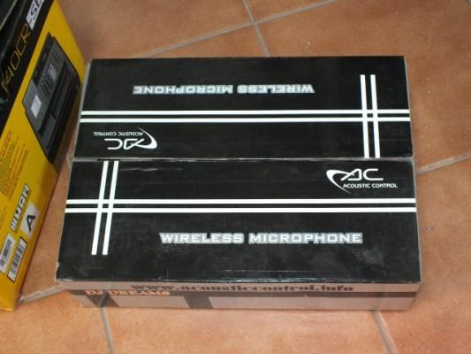 2 Microfonos Inalambricos Acoustic Control Dh 902