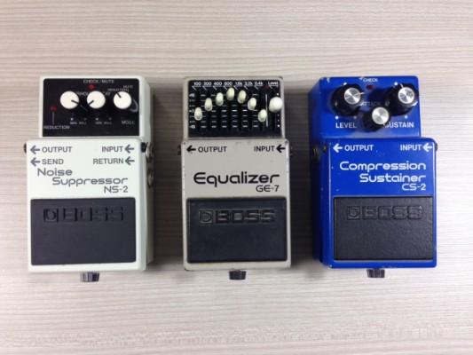 BOSS ecualizador noise suppressor compresor CS2