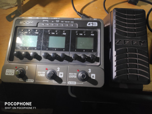 Zoom g3 + pedal de expresión fp02