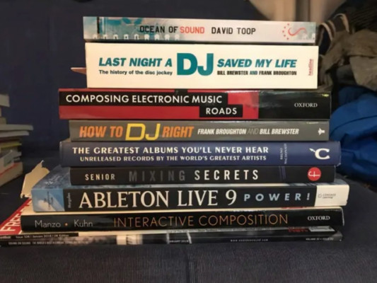 8 libros / books inglés / English - Music Production DJing tech technology