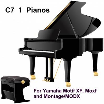 C7 1  PIANOS para Yamaha Motif XF, Moxf, Montage y Modx