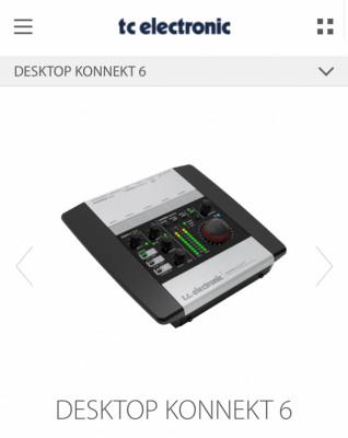 TC Electronics Desktop Konnect 6 (((Envío Incluido))) o Cambio
