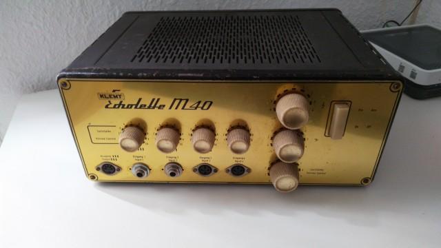 Echolette M40 amplicador a valvulas años 60 hecho a mano