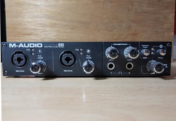 Tarjeta de sonido M-Audio 610