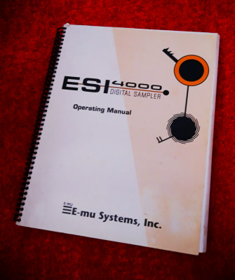Manual original Alemán de E-mu ESI 4000