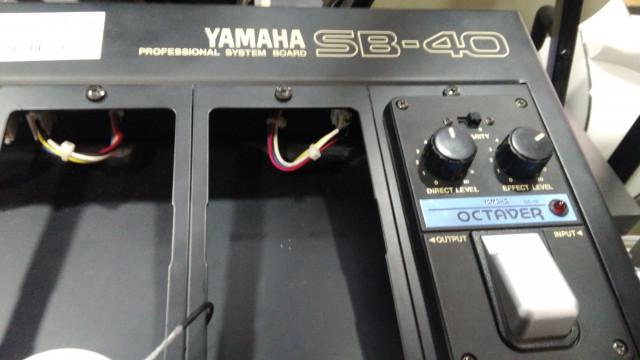 Pedalboard Yamaha SB40 con octavador