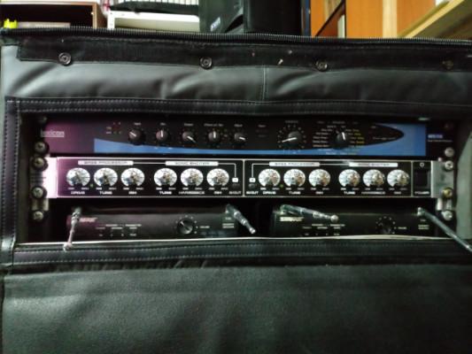 Rack completo de sonido preparado.