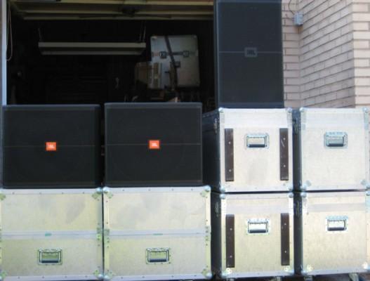 Equipo sonido CompletoJBL Serie Srx+Etapas+Procesador+Flight case