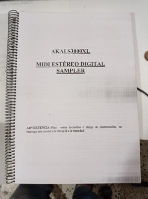 Manual AKAI S3000XL Español