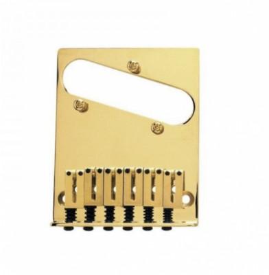 Puente telecaster dorado 3 tornillos de calidad