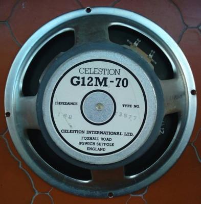Altavoz Celestion G12M-70