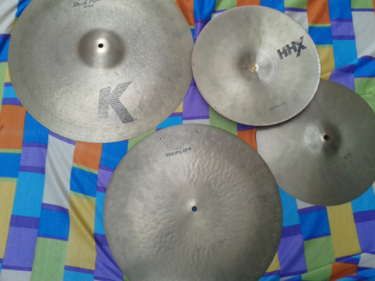 K-Custom Dark Ride,  HHX Groove Hi-Hat y Zildjian K Flat ride