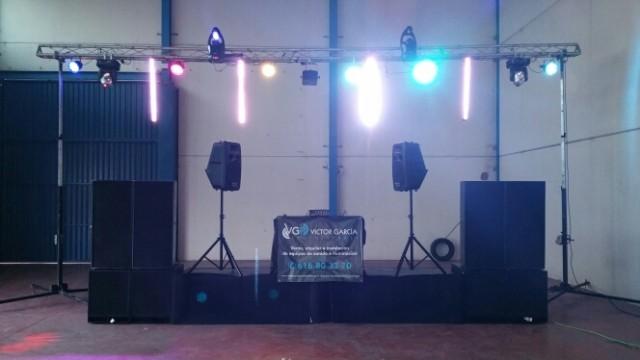 Material de sonido e iluminación