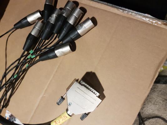 Cable SUBD a 8 XLR MACHO (1.5 m)