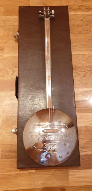 Hubcap guitar Electric Chevrolet Cigar Box 4 cuerdas (Slide)