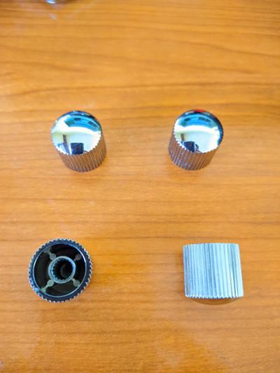 Envío incluido - 4x embellecedorores knobs de plástico para potenciómetros