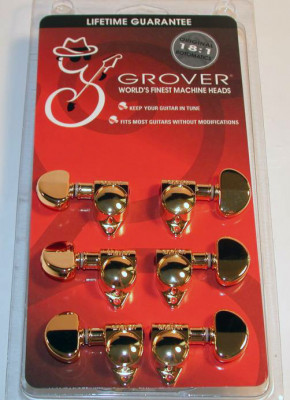 Clavijas de Afinación Doradas Grover GR102-18G Rotomatics