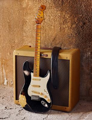 VEGARELICS Stratocaster Black Serengueti