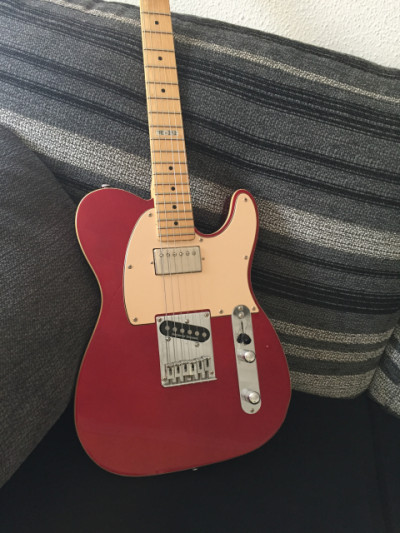 LTD TE-212 Maple CAR (candy apple red) tipo Tele, pastillas Seymour Duncan