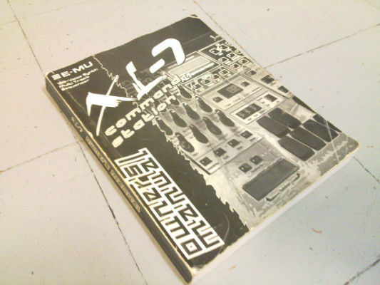 Manual original E-mu XL-7 Command Station
