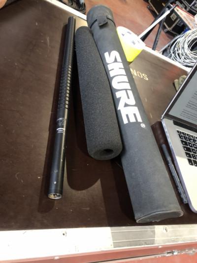 Pareja micrófonos de cañon tope de gama Shure SM89