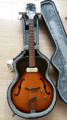 1960 Guild X-50 con FRANZ pickup, Gibson ES-125