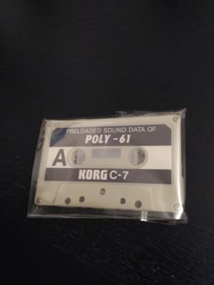 Cassette de patches Korg Poly 61