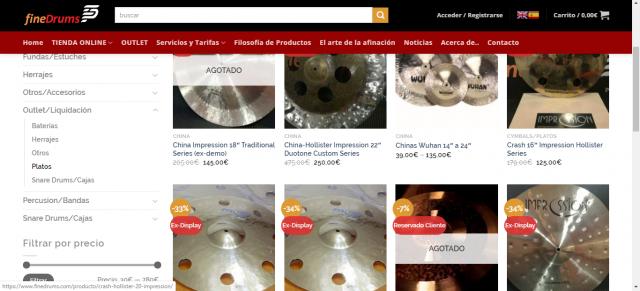 Liquidación platos gama alta nuevos seminuevos, exdemo, exdisplay y usados