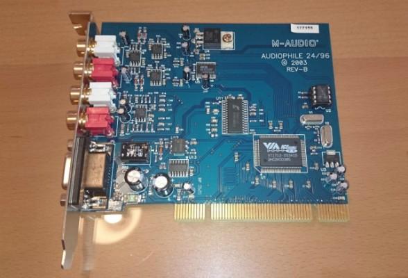 M Audio Audiophile 2496 PCI Tarjeta Sonido MIDI y Digital