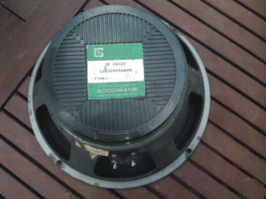 "ALTAVOZ GOODMAN´S AUDIOM GREEN LABEL, 12""-25w.-15Ohm.-Años 60/70."