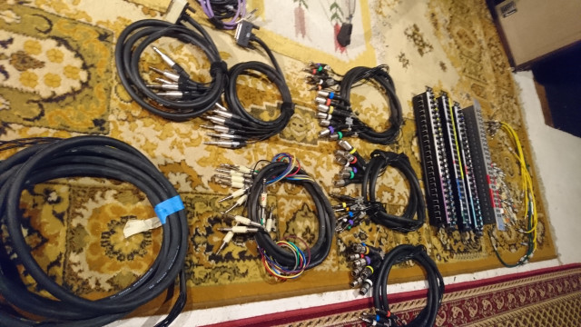 Cableado multipar manguera  XLR TRS JACK DB25