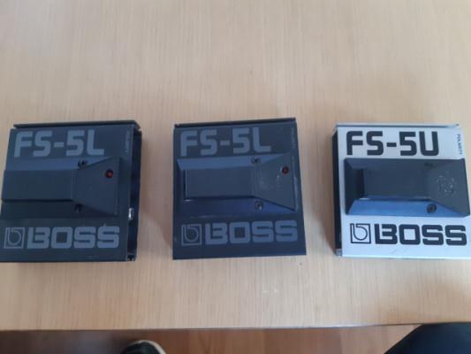 2 pedales boss FS-5 L