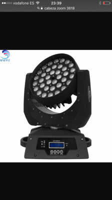 Cabeza zoom led 36x18