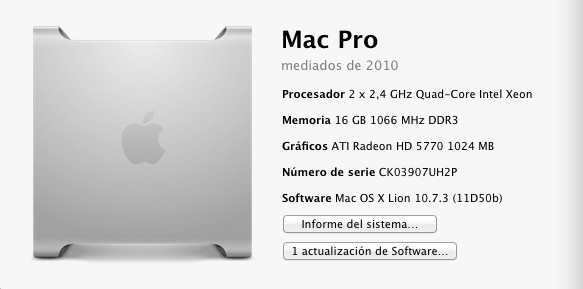Apple Mac Pro Mediados 2010